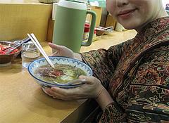 料理:ラーメン食べる@赤のれん節ちゃんラーメン住吉店