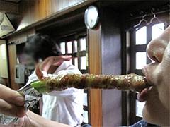 料理:アスパラ巻食べる@焼鳥牛作・福岡市中央区小笹