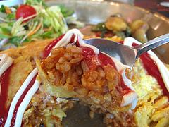 ランチ:スパイシーオムライス食べる@ASHOK'S BAR(アショクズ・バー)・清川