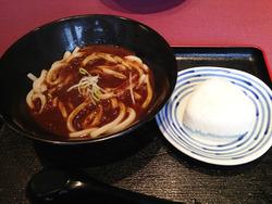 7カレーうどん塩おむすびセット350円@一優亭