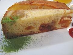 22ランチ:デザート・金柑のケーキ@食堂シェモア・フレンチ・イタリアン・洋食