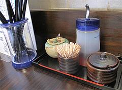 店内:卓上@博多つけ蕎麦・串揚げ・博多大乗路・櫛田神社