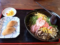 ランチ:冷麺そば+いなり530円@鳴門うどん・久留米・山川