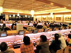 店内:カウンター席@かっぱ寿司・博多半道橋店