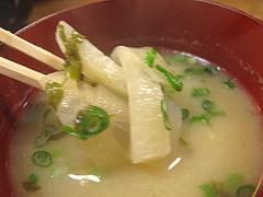 料理:味噌汁@魚魚・居酒屋