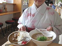 12ランチ:豚骨カレーセット500円@博多ラーメン・唐木屋・七隈店
