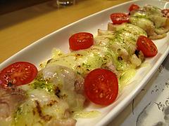 14居酒屋:地鶏のバジルチーズ焼き@和食・おばんざい・和さび・京都