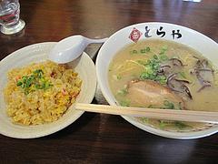 料理:ラーメン+小チャーハン500円ランチ@ラーメンとらや渡辺通り店