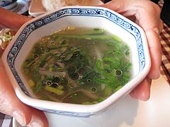 料理:グリーンカレー定食のスープ@カオサン・タイ料理・薬院