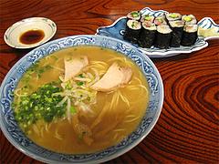 料理:ラーメンセット600円(寿司2人分)@四方平(よもへい)・小倉