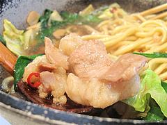 料理:もつ鍋のモツ@和食屋が作るもつ煮込みらーめん・野間