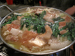 料理:コムタン鍋ぐつぐつ×2@餃子・高砂遊心