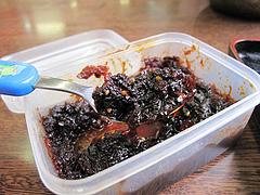 料理:食べるラー油@ラーメンつる家・那珂川