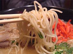 筑豊ラーメン・ばさらかのラーメン麺@北九州小倉らうめん(ラーメン)横丁