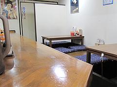 店内:カウンターと小上がり@麺屋多吉・ラーメン・大橋