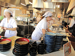 店内:注文カウンター@丸亀製麺・那珂川・福岡