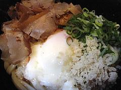 ランチ:温玉カツオぶっかけうどん@うどん研究所・麺喰道・七隈