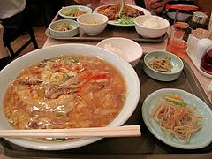 料理:胡椒と酢入り辛味汁そばセット680円@点心楼・台北・清川
