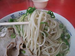 料理:ラーメン・カタ麺1@元祖ラーメン長浜家・港