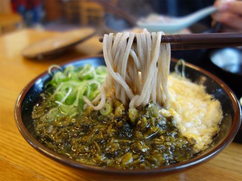 【福岡】辛子高菜そば&鴨なべうどん♪@長住うどん
