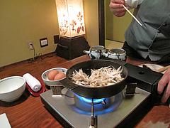 料理:地鶏鍋3,150円@湯の岳庵・亀の井別荘