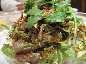 7よだれ鶏野菜@悠久上海