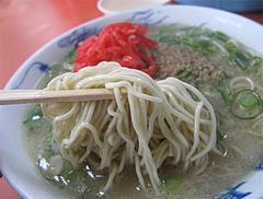 料理:ラーメン・カタの麺@元祖長浜屋