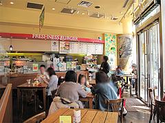 店内@フレッシュネスバーガー・リバーウォーク北九州・小倉