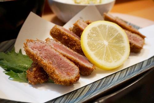 【福岡】中洲・キャナルシティ近くで牛レアかつ膳と牛レアかつ丼♪@博多悠牛亭