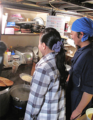 店内:麺上げ体験(別料金)2@屋台・新妻・天神・福たび