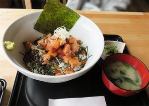 10ぶった切り海鮮丼880円+250円@博多ハウス