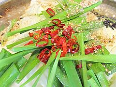 8ランチ:ハーフ麺もつ味噌味・鷹の爪@一人もつ鍋・元祖博多麺もつ屋・春吉