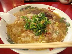 ランチ:昭和のワンタン麺750円@ラーメン・支那そば北熊・福岡空港店