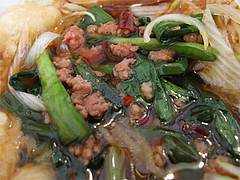 料理:海老ニラしょうゆの具@六壱○(ろくいちまる)・平尾