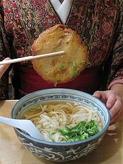 料理:丸天うどんの天ぷら@博多川端うどん・住吉