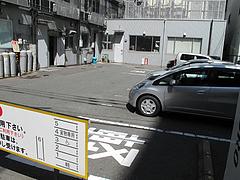 外観:専用駐車場@生蕎麦・玄・天神