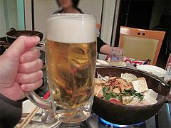 もつ鍋と生ビール@天神DININGじゃんくう