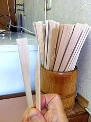5店内:割り箸の片思い@中華橋本・薬院