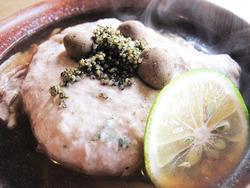 19自然薯と地鶏蕎麦(温)@蕎麦・文治郎
