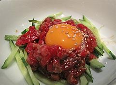 料理:国産牛ユッケ590円@牛角・東比恵店