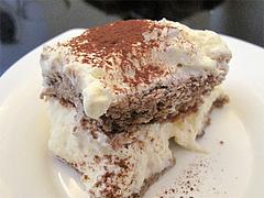 料理:ヨーグルトのムースケーキのアップ@生パスタOOIWA(オオイワ)・平尾