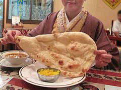 9ランチ:日替わりのナンの大きさ@シブシャンカル城西店