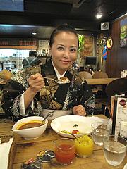 1料理:カレー食べる@カレーショップ・ドゥニヤ・東比恵