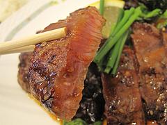 料理:サーロインステーキアップ@小さな洋食屋おがわ・警固