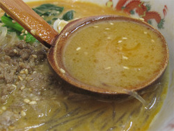 7春雨タンタン麺スープ@らーめん椿屋