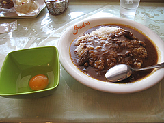 ランチ:カレーライス+生卵50円@カレー・珈琲の店・インダス