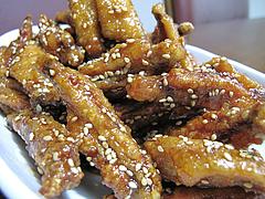 料理:ピリ辛チキンバーアップ@肉のたまや・薬院