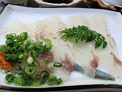 料理:ひらめの刺身@鮨あつ賀・渡辺通・福岡