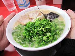 料理:ねぎ(糸島産)ラーメン650円@王龍ラーメン・赤坂