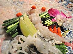 8和食:河豚の絵皿盛り@英二楼・河豚料理・海鮮居酒屋
